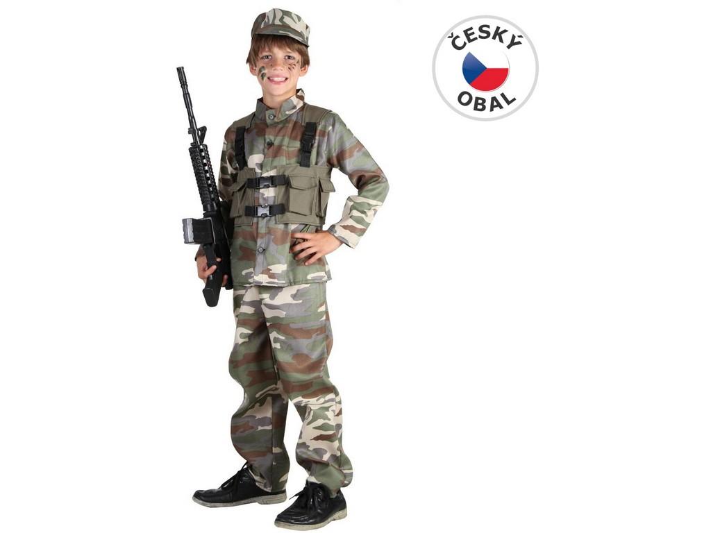 Made Kostým na karneval - Voják, 120-130 cm