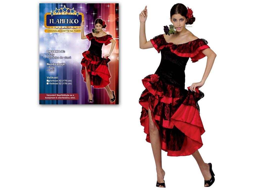 Made Kostým na karneval - Flamenco - pro dospělé (170 cm)