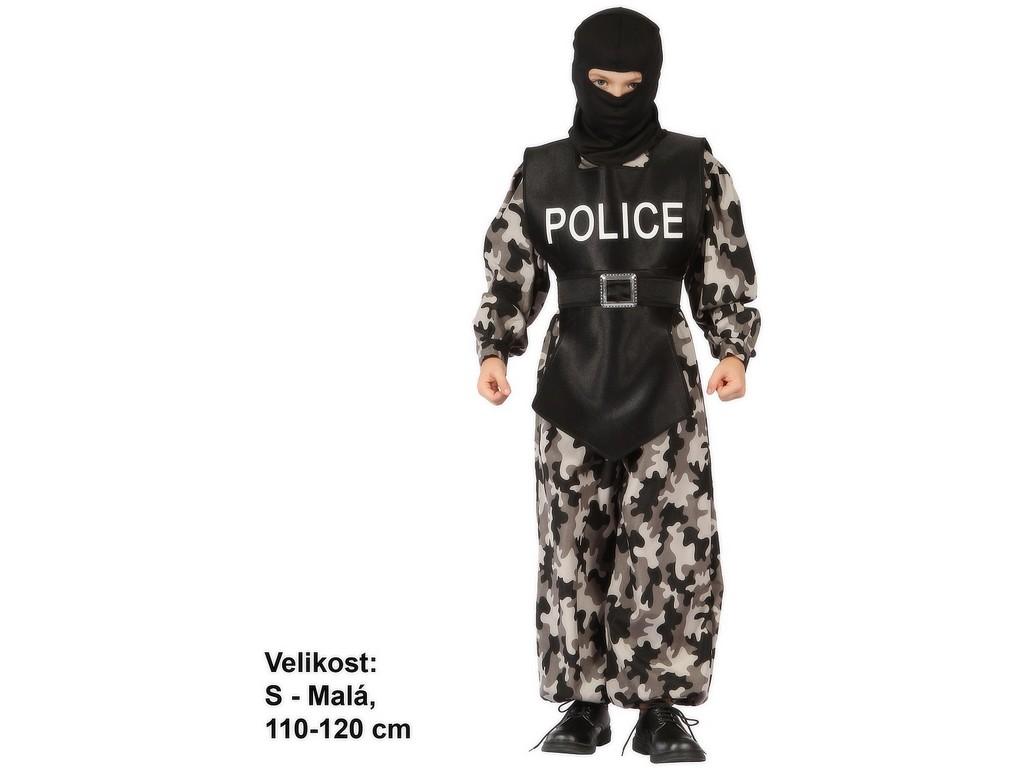 Made Kostým na karneval Policista, 110-120cm