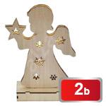 Vánoční andělíček dřevěný