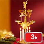 Vánoční svícen kolotoč