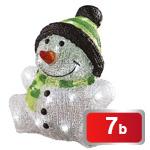 LED vánoční sněhulák