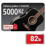 Dárkový poukaz Kytary.cz na nákup zboží v hodnotě 5 000 Kč