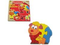 62381 - Puzzle dřevěné Zvířátka 5 dílků