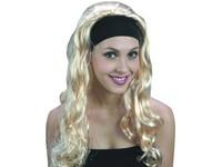 75166 - Paruka - Super blond dlouhá s čelenkou
