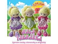 75198 - Panenka textilní, zpívá česky, slovensky a anglicky