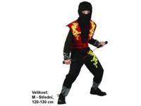 86145 - Šaty na karneval - Ninja, 120-130 cm
