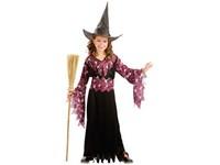 86157 - Kostým na karneval Čarodějka, 120-130cm