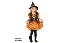 86171 - Kostým na karneval Čarodějka, 92-104cm