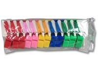 88887 - Píšťalka plastová různé barvy se sňůrkou 24 ks