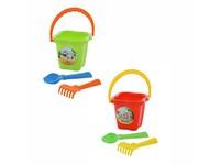 90665 - Sada na písek kbelíček střední, lopatka, hrabičky