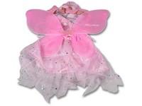 91598 - Kostým růžový - křídla, sukně a příslušenství