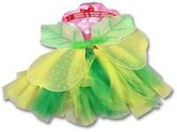 91604 - kostým zelený - sukně, křídla, příslušenství