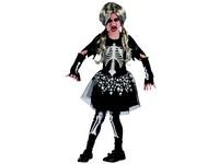 95489 - Šaty na karneval - kostra dívka, 120-130 cm