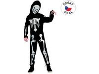 95493 - Šaty na karneval - kostra chlapec, 120-130 cm
