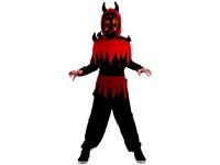 95505 - Šaty na karneval - ďábel, 120-130 cm
