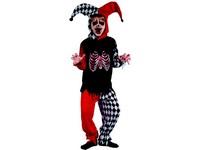 95521 - Šaty na karneval - šašek kostra, 120-130 cm