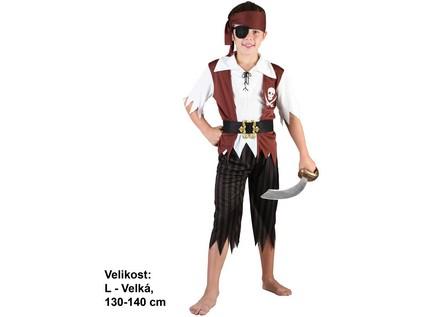 82485 - Kostým na karneval Pirát, 130-140cm - 47764_82485