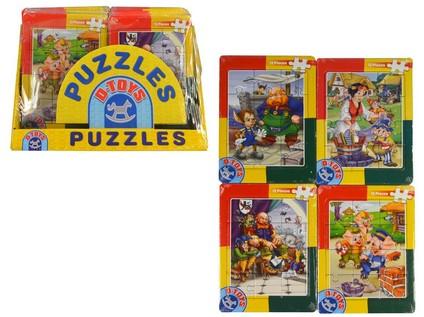 95709 - Puzzle Mini - pohádky, 12 ks puzzlí, 15cm, 40ks v boxu - 60643_95709