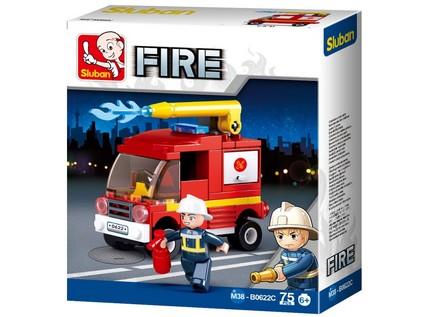 96786 - Kostky - hasičské auto 76 ks - 61592_96786