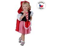 50155 - Kostým na karneval Červená Karkulka, 92-104 cm