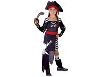 50229 - Kostým na karneval - Pirátka, 110-120 cm