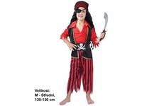 55482 - Kostým na karneval - Pirát s páskou, 120-130 cm