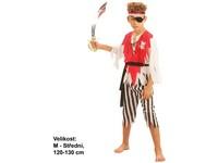 55532 - Kostým na karneval - Pirát s páskem, 120-130 cm
