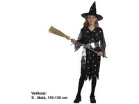 55545 - Kostým na karneval - Čarodějka s páskem, 110-120 cm