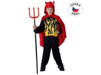 55558 - Kostým na karneval Čert, 120-130cm