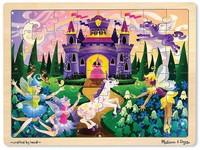 62885 - Puzzle dřevěné Zámek 48 dílků