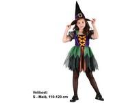 68914 - Kostým na karneval - Čarodějka v sukýnce, 110-120 cm
