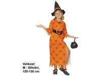 68958 - Šaty na karneval - čarodějka, 120-130 cm