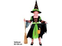 68967 - Kostým na karneval - čarodějka 92-104 cm