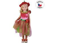 75071 - Kostým na karneval Jahodová víla, 92-104cm