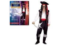 75092 - Kostým na karneval - Kapitán pirátů, pro dospělé (178 cm)