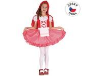 82434 - Kostým na karneval - Červená Karkulka, 110-120 cm