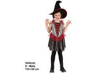 82440 - Kostým na karneval - Čarodějnice s kloboukem, 110-120 cm