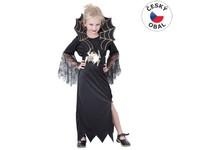 82491 - Kostým na karneval - Černá královna, 130-140 cm