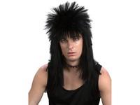 82544 - Paruka punk černá - dlouhé vlasy