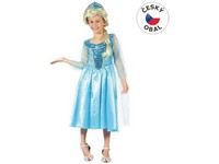 86064 - Kostým na karneval ledová princezna, 120-130cm
