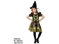 86086 - Kostým na karneval - Čarodějka, 120 -130 cm