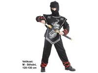 86150 - Kostým na karneval Stříbrný ninja, 120-130cm