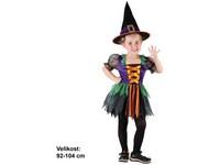 86178 - Šaty na karneval - Čarodějka 92 -104 cm