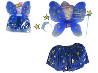 86464 - Kostým princezny modrý s hvězdami