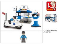 87139 - Stavebnice policejní stanice mini, 86 ks