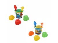 90651 - Sada na písek kbelíček malý, sítko, lopatka, hrabičky, formičky