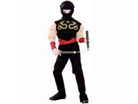 91234 - Šaty na karneval - Ninja 110 - 120 cm