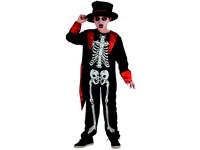 95491 - Šaty na karneval - kostra chlapec, 120-130 cm