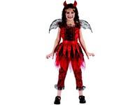 95503 - Šaty na karneval - čertice, 120-130 cm